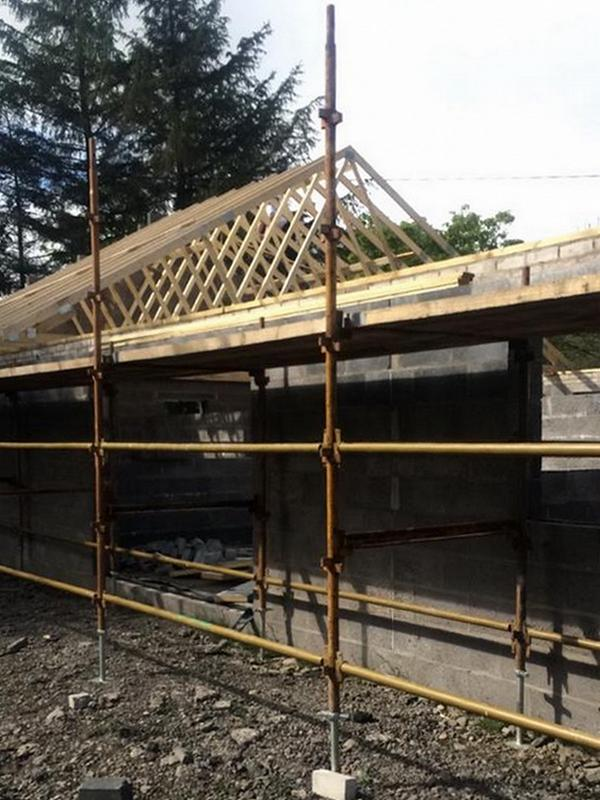 New Build roof under construction